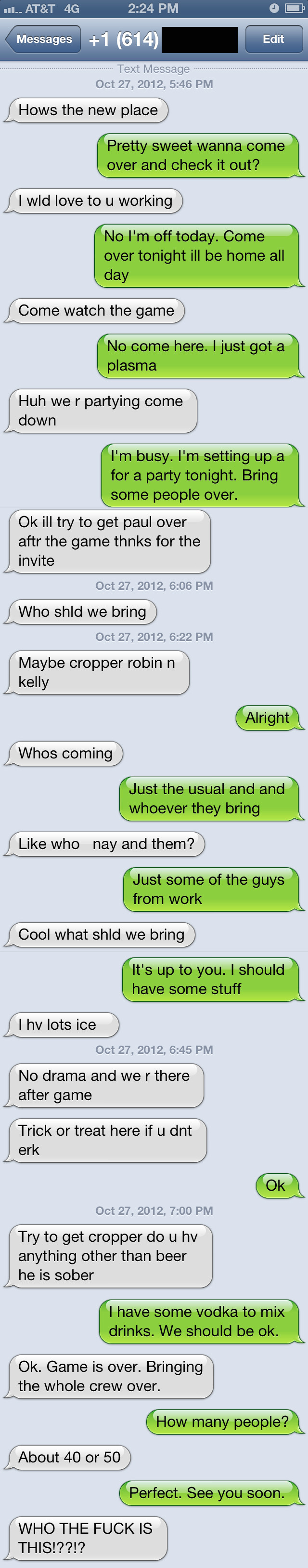iPhone text message conversation trolling