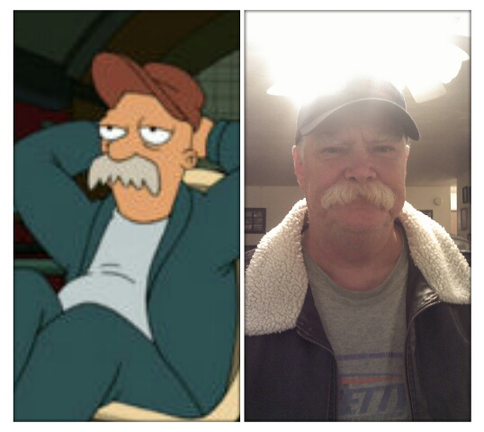 Futurama Scruffy lookalike in real life