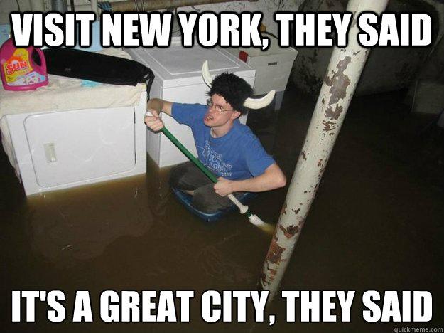 nyc hurricane sandy tourist meme