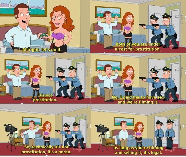 family guy porno or prostitution