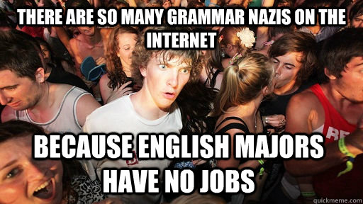 because english majors have no jobs