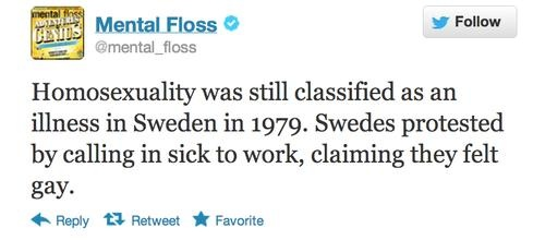 homosexuality was an illness in sweden in 1979