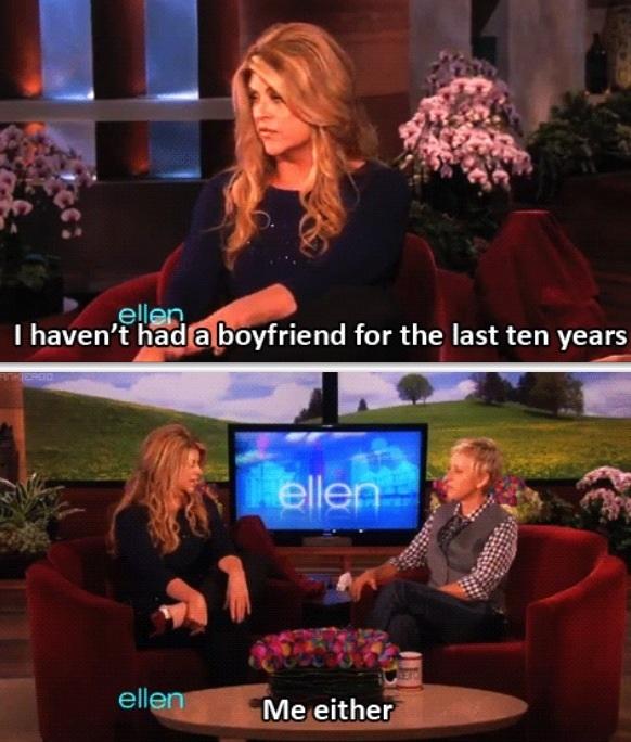 ellen havent had a boyfriend in 10 years