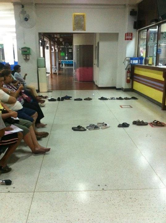 sandals on the ground in thailand