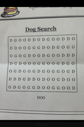 Find the word dog wordsearch puzzle.