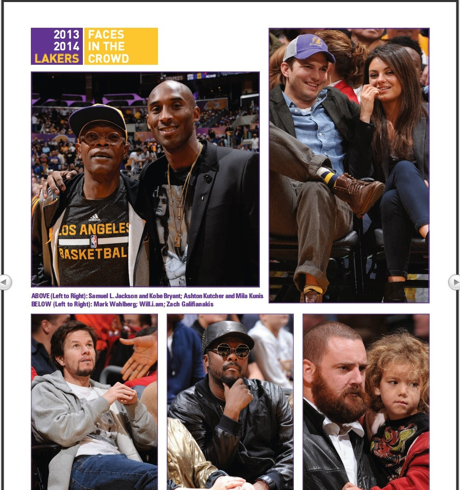 Lakers Magazine put up pictures of celebrities at an NBA game and mistaken a fan for Zach Galifianakis.